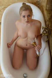 Cute Blonde Girl Bathe