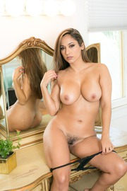 Busty Brunette Reena Sky In Sexy Lace Panties