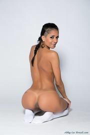 Hot Latina Abby Lee Brazil Strips In The Studio
