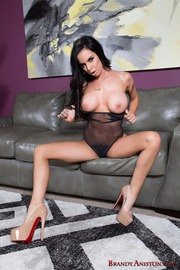 Busty Bitch Brandy Aniston Plays With Her Toys