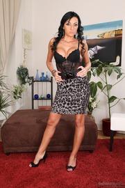 Busty Latina Babe Melissa Mendini Strips