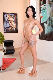 Tattooed Asian Bitch Saya Song Strips And Spreads