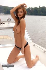 Naked Babe Ivette On A Boat