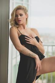 Naked Under A Sexy Black Dress