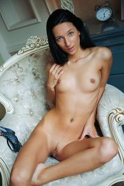 Slim Black Haired Beauty Kenya Gets Nude