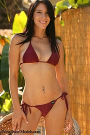 Hot Brunette In Bikini