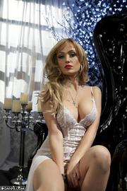 Angela Sommers In Sexy White Dress