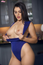 Valentina Nappi In Blue Bodysuit