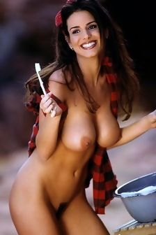 Tishara Lee Cousino Brunette Playboy Girl