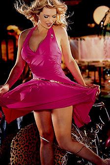 Destiny Davis Playboy Girl In Pink Dress