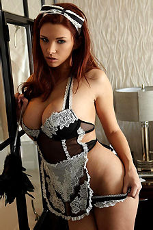 Sabrina Maree Is A Sexy Maid