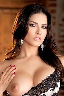 Sunny Leone Sexy Black Lingerie