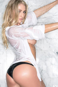 Blonde On Upskirts All Wet