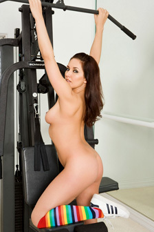 Zoe Britton In The Gym
