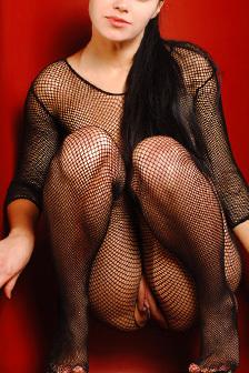 Mirela In Fishnet Bodysuit