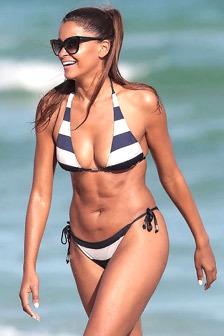 Claudia Jordan On The Beach