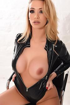 Dani Anderson In Her Pvc Bodysuit