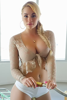 Busty On Bicycle