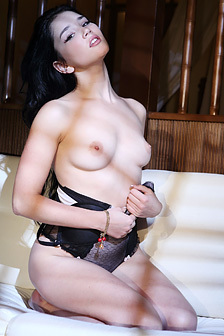 Raven Haired Beauty Malena Strips And Poses Naked