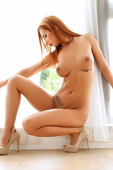 Gorgeous Redhead Posing Naked