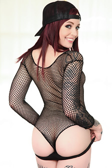 Cute Redhead Teen Chloe Carter Strips And Poses Nude