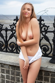 Angel B Gets Fully Naked In Public