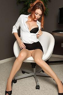 Stunning Secretary Caitlin McSwain