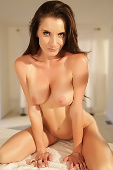 Silvia Sage Strips And Poses Naked