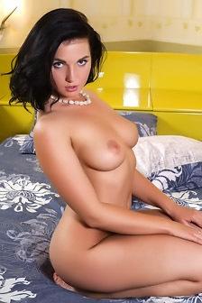 Busty Brunette Teen Tara Nude In Bed