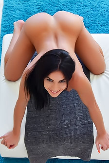 Inna Spreads Her Wet Pussy