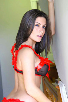 Danni Gibson In Black And Red